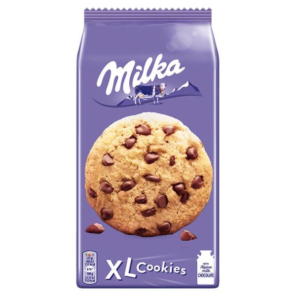 Milka XL Cookies Choco Ciastka z kawałkami czekolady mlecznej 184 g