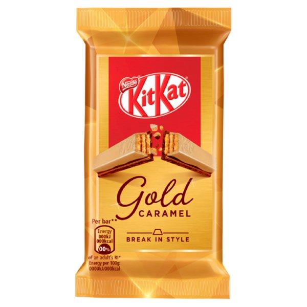 KitKat Paluszek waflowy z białą czekoladą karmelizowanym cukrem i mleczną czekoladą 41,5 g