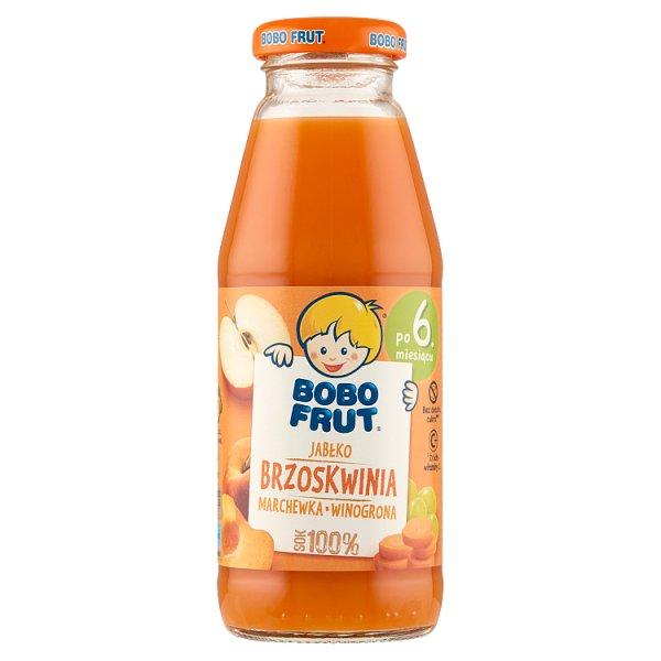 Bobo Frut Sok 100% jabłko brzoskwinia marchewka winogrona po 6. miesiącu 300 ml