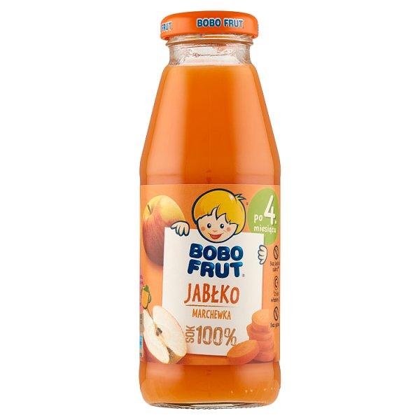 Bobo Frut Sok 100% jabłko marchewka po 4. miesiącu 300 ml