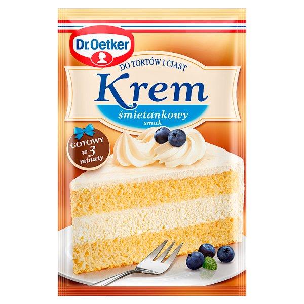 Dr. Oetker Krem do tortów i ciast smak śmietankowy 120 g