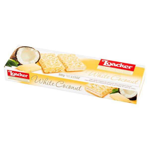 Loacker Gran Pasticceria White Coconut Ciastka waflowe 100 g