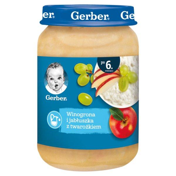 Gerber Winogrona i jabłuszka z twarożkiem dla niemowląt po 6. miesiącu 190 g