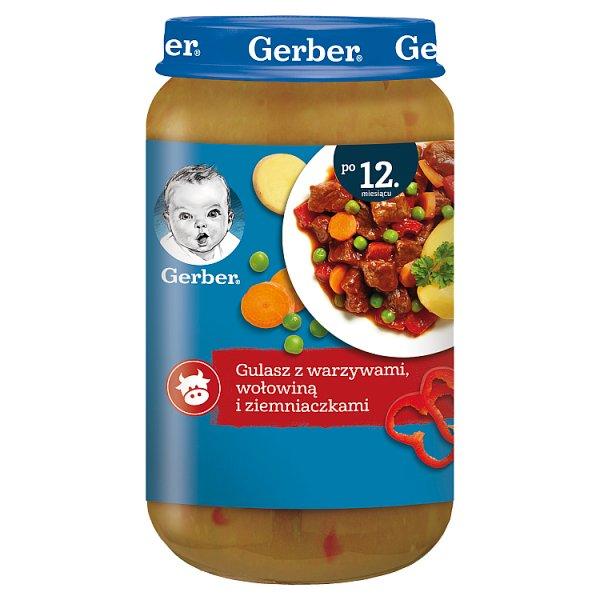 Gerber Gulasz z warzywami wołowiną i ziemniaczkami dla dzieci po 12. miesiącu 250 g
