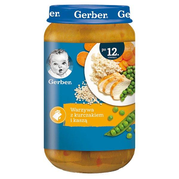 Gerber Warzywa z kurczakiem i kaszą dla dzieci po 12. miesiącu 250 g