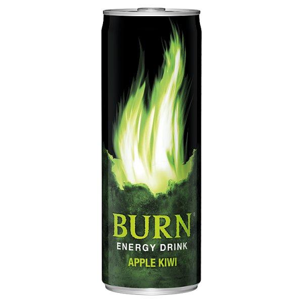 Burn Apple Kiwi Gazowany napój energetyczny 250 ml