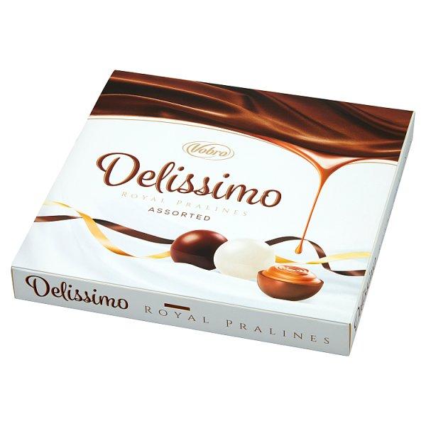 Vobro Delissimo Praliny nadziewane kremem orzechowym mlecznym i kakaowym 157 g