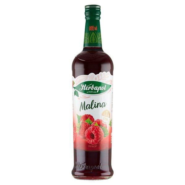 Herbapol Suplement diety syrop o smaku malinowym 680 ml