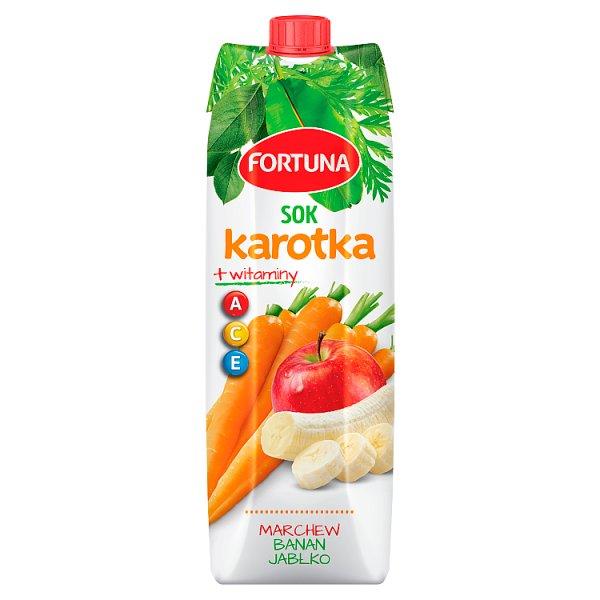 Fortuna Karotka Sok marchew banan jabłko + witaminy A C E 1 l