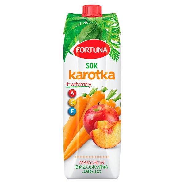 Fortuna Karotka Sok marchew brzoskwinia jabłko + witaminy A C E 1 l