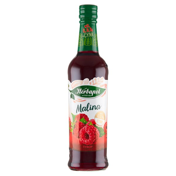 Herbapol Suplement diety syrop o smaku malinowym 420 ml
