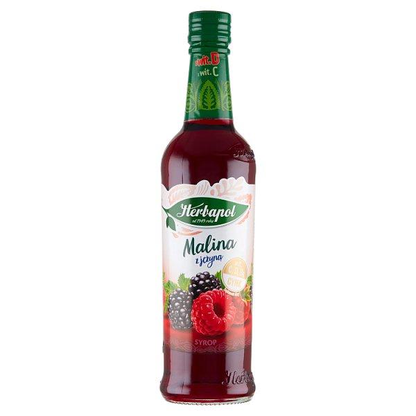 Herbapol Suplement diety syrop o smaku malinowo-jeżynowym 420 ml
