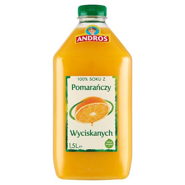 Andros 100% sok z pomarańczy wyciskanych 1,5 l