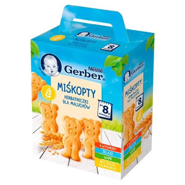 Gerber Miśkopty Herbatniczki dla niemowląt po 8. miesiącu 180 g