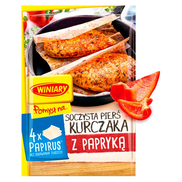 Winiary Pomysł na... Soczysta pierś z kurczaka z papryką 23,2 g