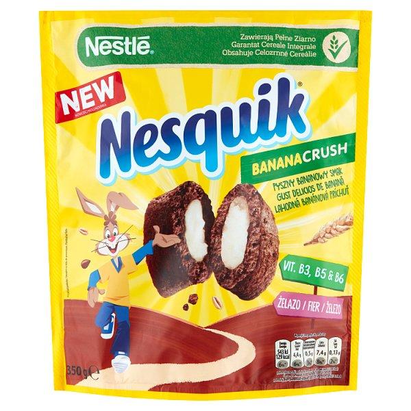 Nestlé Nesquik BananaCrush Płatki śniadaniowe 350 g