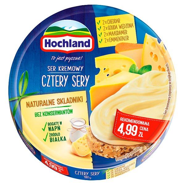 Hochland Ser kremowy w trójkącikach cztery sery 180 g
