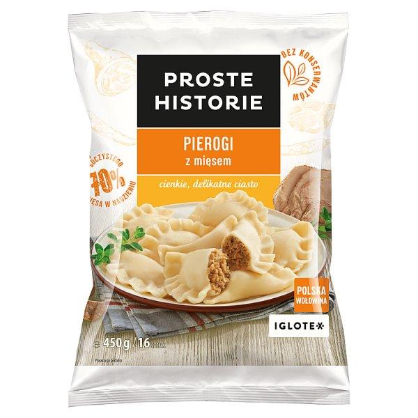 Proste Historie Pierogi z mięsem 450 g (16 sztuk)