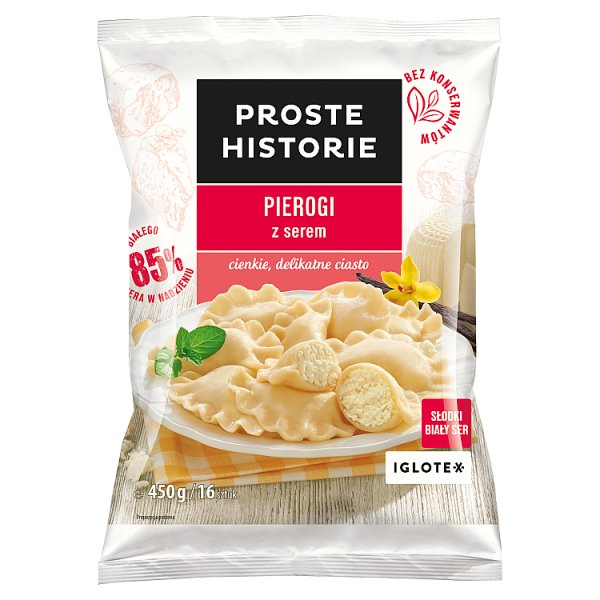 Proste Historie Pierogi z serem 450 g (16 sztuk)