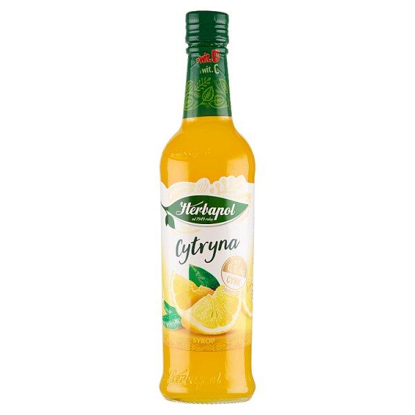 Herbapol Suplement diety syrop o smaku cytrynowym 420 ml