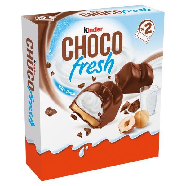 Kinder Chocofresh Mleczna czekolada z mlecznym i orzechowym nadzieniem 41 g (2 sztuki)