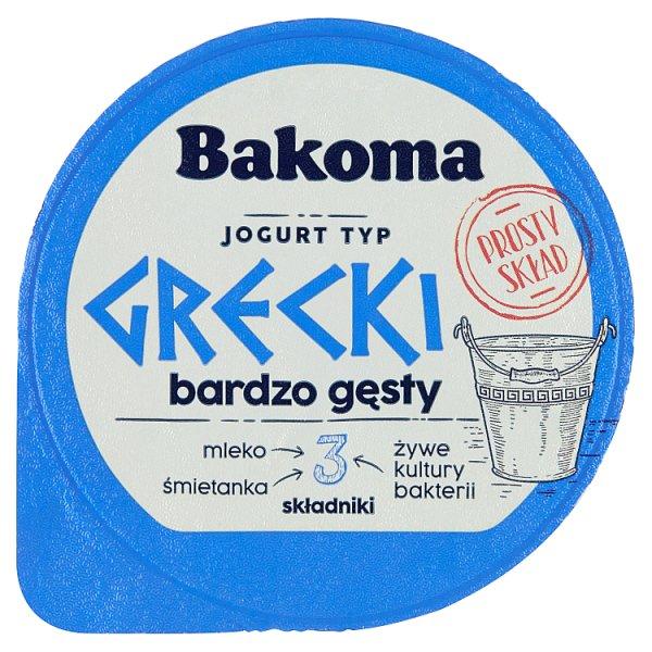 Bakoma Jogurt naturalny typ grecki 180 g