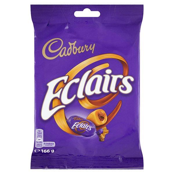 Cadbury Eclairs Karmelki ze środkiem z mlecznej czekolady 166 g