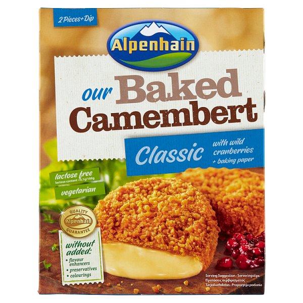 Alpenhain Classic Ser Camembert do zapiekania i sos żurawinowy 200 g