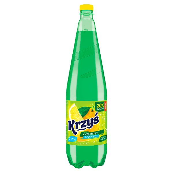 Krzyś Napój gazowany smak cytrynowy 1,25 l