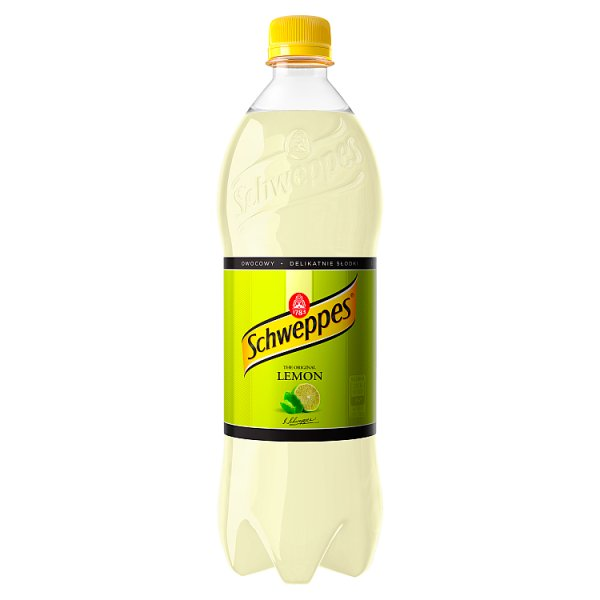 Schweppes Lemon Napój gazowany 0,85 l