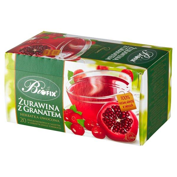 Bifix Premium Herbatka owocowa żurawina z granatem 40 g (20 x 2 g)