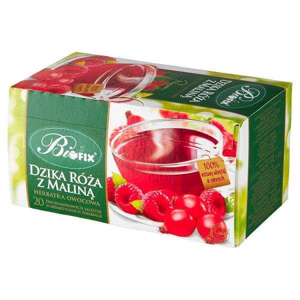 Bifix Premium Herbatka owocowa dzika róża z maliną 40 g (20 x 2 g)