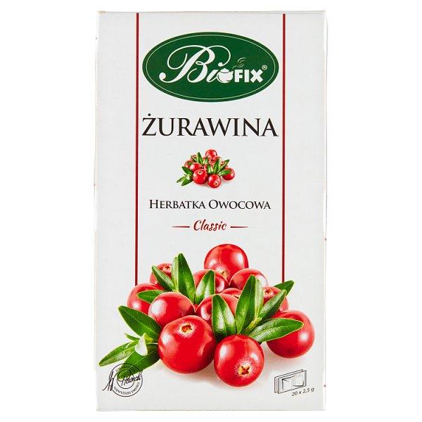 Bifix Classic Herbatka owocowa żurawina 50 g (20 x 2,5 g)
