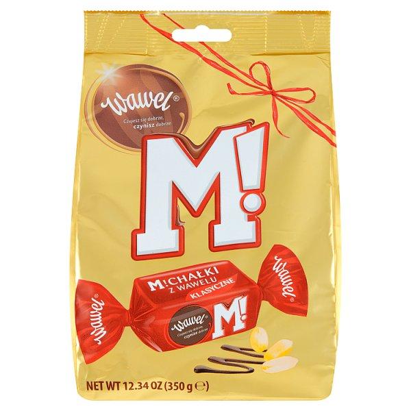 Wawel Michałki z Wawelu Klasyczne Cukierki w czekoladzie 350 g