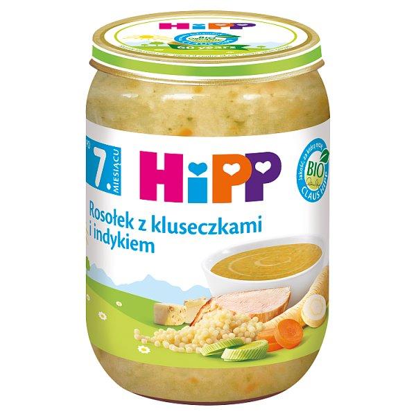 HiPP BIO Rosołek z kluseczkami i indykiem po 7. miesiącu 190 g