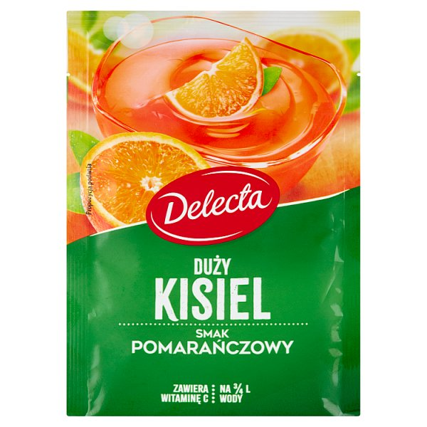 Delecta Duży kisiel smak pomarańczowy 58 g