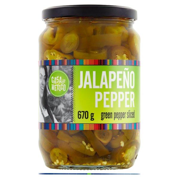 Casa de Mexico Papryka zielona Jalapeño krojona 670 g