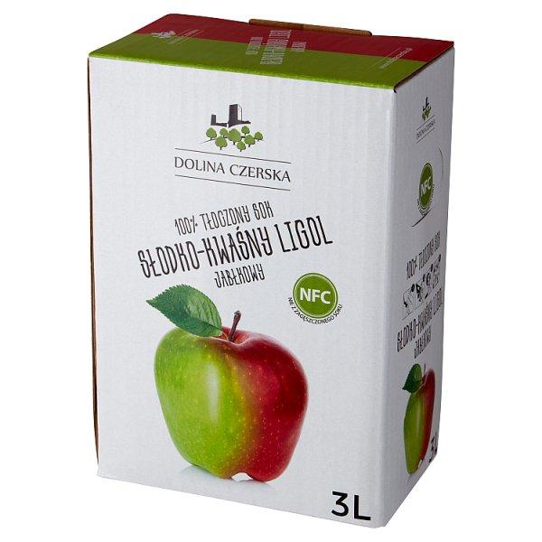 Dolina Czerska 100% tłoczony sok jabłkowy słodko-kwaśny ligol 3 l
