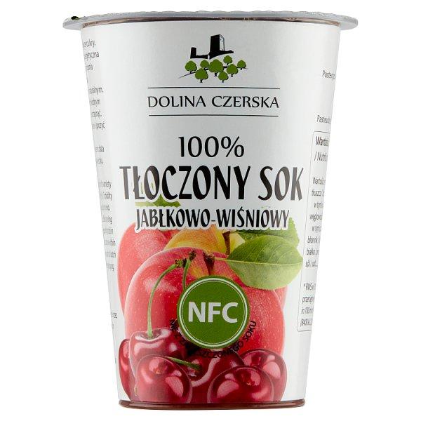 Dolina Czerska 100% tłoczony sok jabłkowo-wiśniowy 200 ml