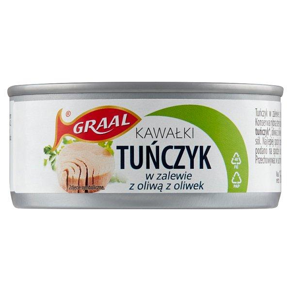 Graal Tuńczyk kawałki w zalewie z oliwą z oliwek 160 g