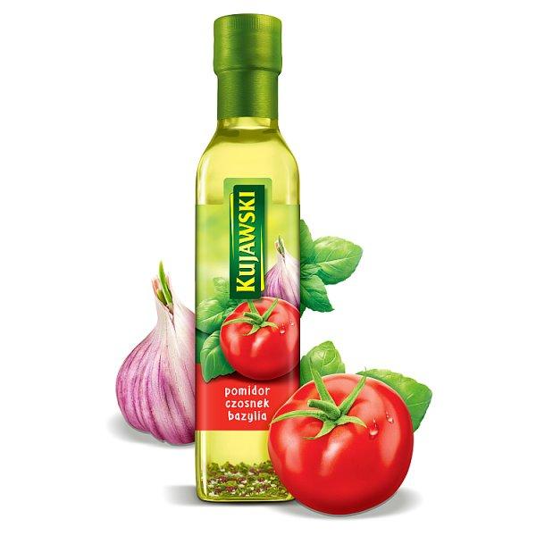 Kujawski Olej rzepakowy z pierwszego tłoczenia z pomidorami czosnkiem i bazylią 250 ml