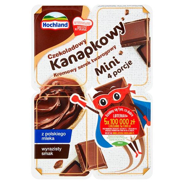 Hochland Kanapkowy mini serek twarogowy czekoladowy 120 g (4 x 30 g)