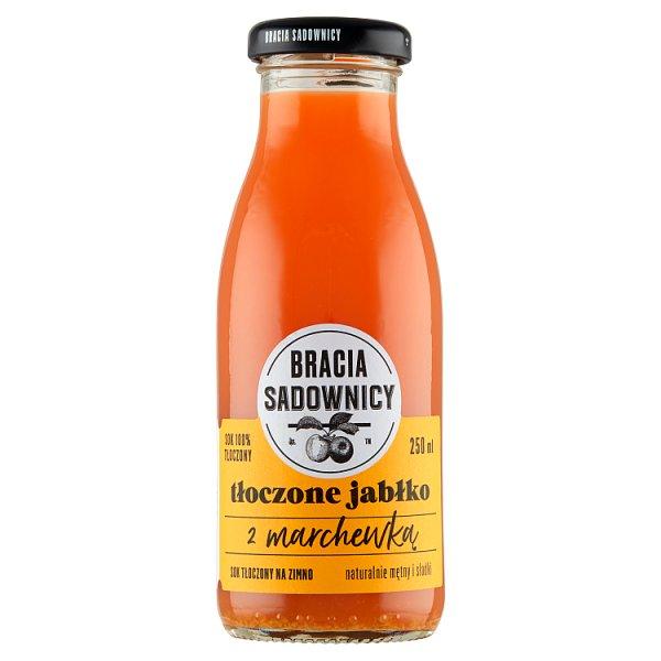 Bracia Sadownicy Sok tłoczone jabłko z marchewką 250 ml
