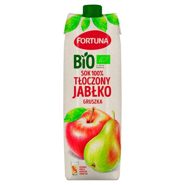Fortuna Bio Sok 100% tłoczony jabłko gruszka 1 l