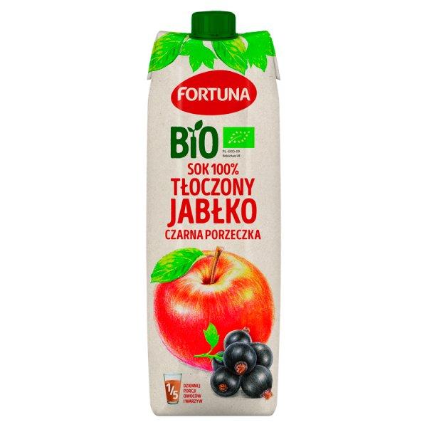 Fortuna Bio Sok 100% tłoczony jabłko czarna porzeczka 1 l