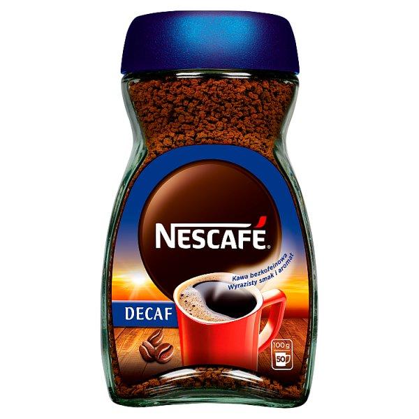 Nescafé Decaf Bezkofeinowa kawa rozpuszczalna 100 g