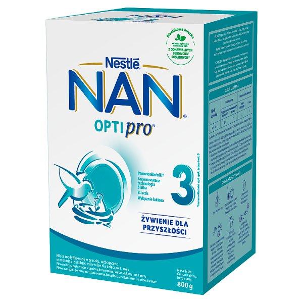 NAN OPTIPRO 3 Mleko modyfikowane dla dzieci po 1. roku 800 g (2 x 400 g)
