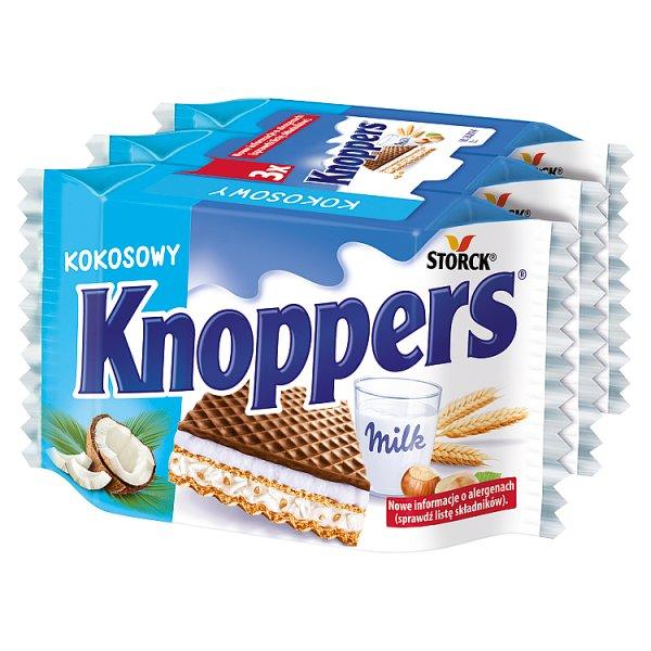 Knoppers Wafelek mleczno-kokosowy 75 (3 x 25 g)