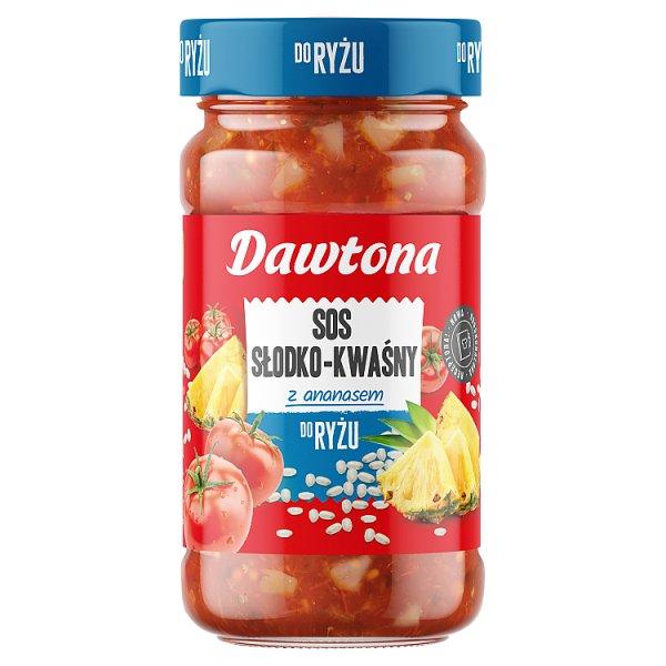 Dawtona Sos słodko-kwaśny z ananasem do ryżu 550 g
