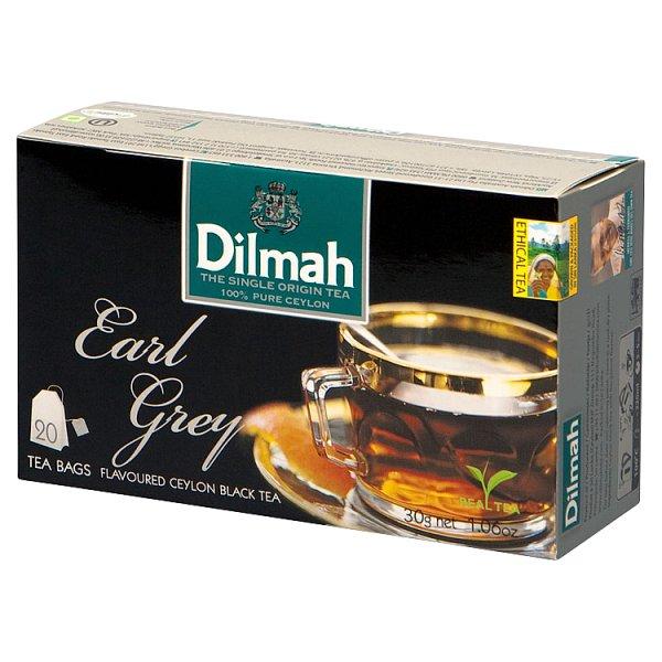 Dilmah Earl Grey Cejlońska czarna herbata 30 g (20 x 1,5 g)